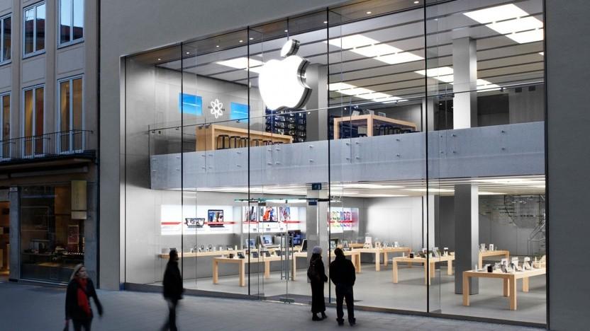 Der Apple Store in der Münchner Rosenstraße.