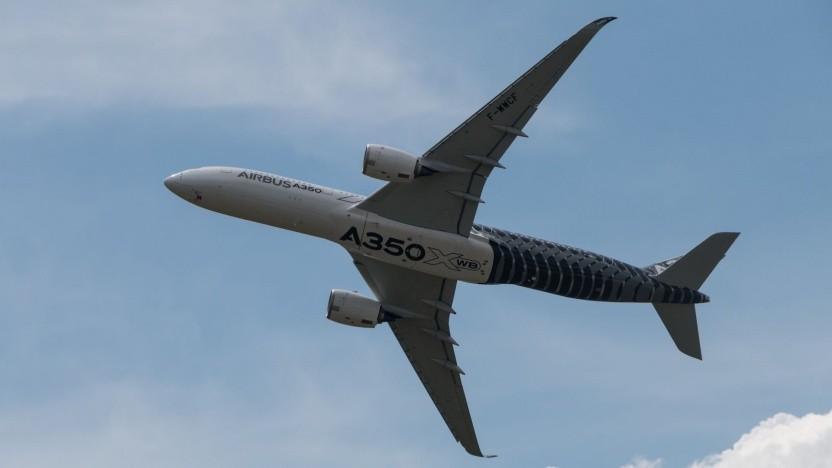 Airbus A350 im Flug: Lärm fließt in Landegebühr ein.