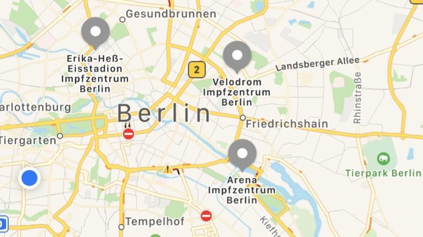 Impfzentren in Berlin