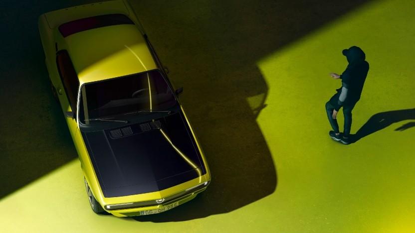 Opel kündigt einen E-Manta an - ohne Fuchsschwanz.