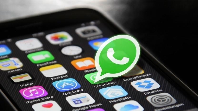 Whatsapp funktionierte eine zeitlang nicht.