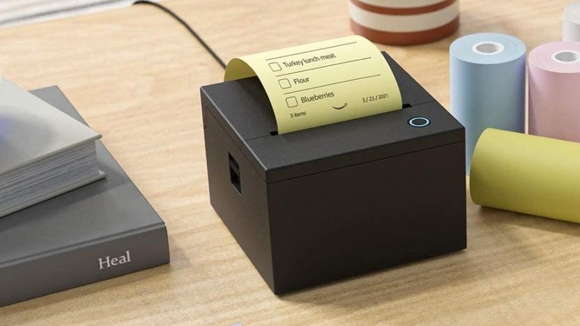 Der Alexa-Notizzetteldrucker wird bis Ende September geliefert.