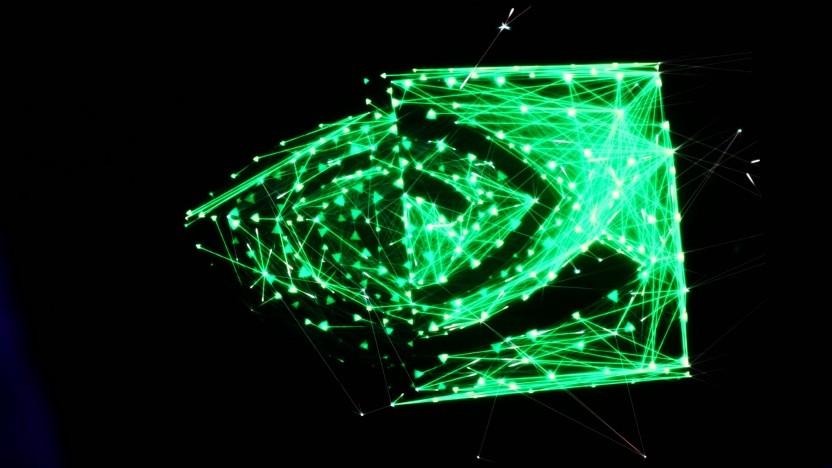 Nvidia-Logo auf der Gamescom 2018