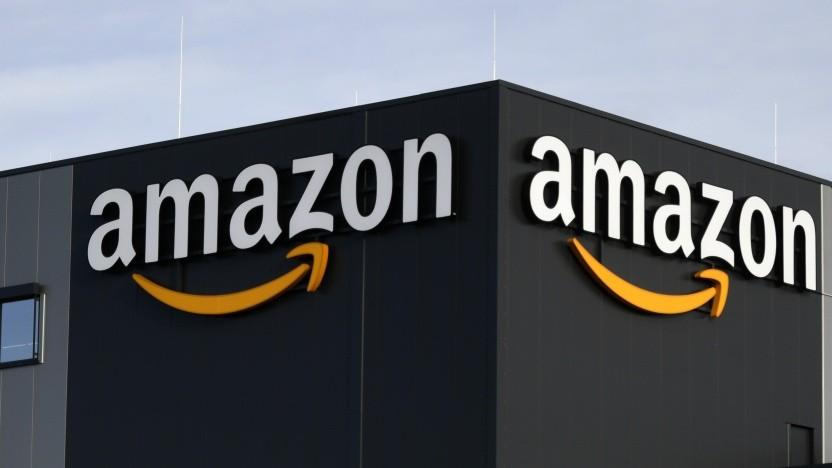 Eine Lagerhalle von Amazon