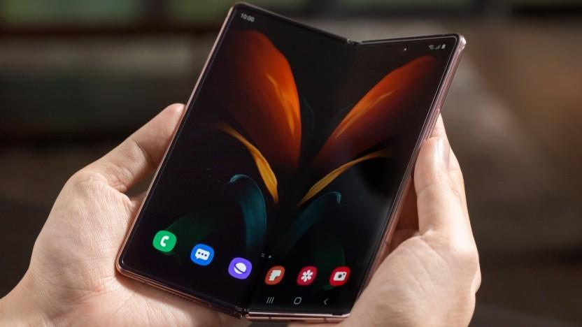 Bislang haben Samsung-Smartphones maximal ein Scharnier, wie hier das Galaxy Z Fold 2.