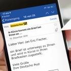 Digitale Kopie: Briefinhalte kommen vorab per E-Mail