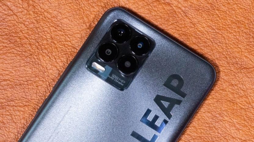 Das Realme 8 Pro mit seiner Vierfachkamera