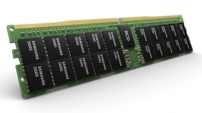 Symbolbild eines DDR5-Speicherriegels (R-DIMM) für Server