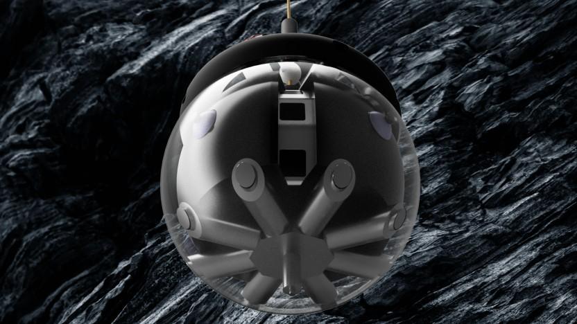 So könnte der Roboter Daedalus beim Einsatz auf dem Mond aussehen.