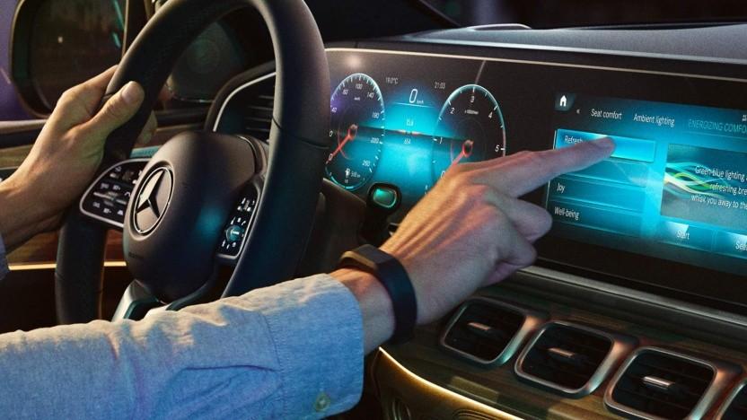 Mercedes MBUX Multimediasystem (Symbolfoto)