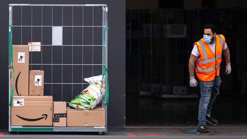 Amazon-Arbeiter in Italien
