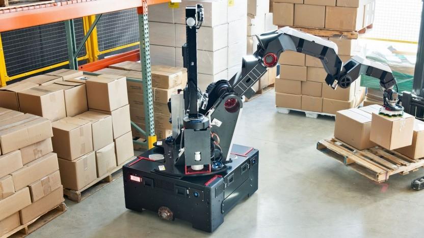 Nicht so spektakulär wie Spot und Atlas, aber trotzdem smart: der Roboter Stretch von Boston Dynamics.