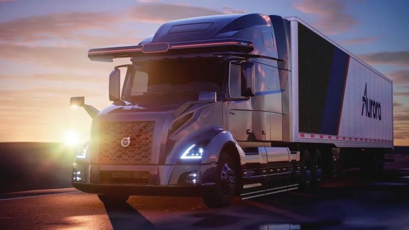 Ein Volvo-Lkw in den USA