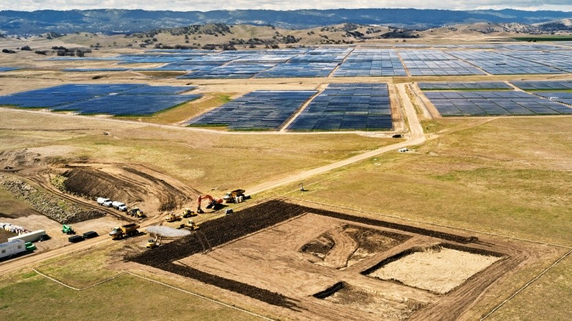 Geplante Solarenergieanlage California Flats