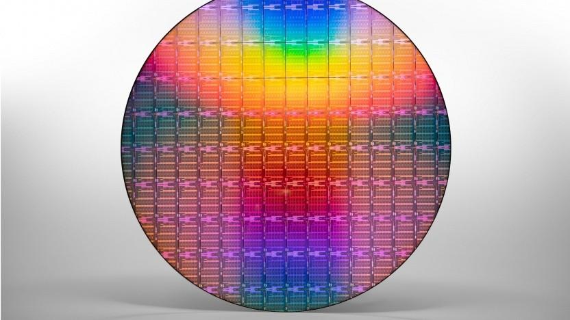 Ein Wafer mit ICX-SP alias 3rd Gen Xeon Scalable Processor