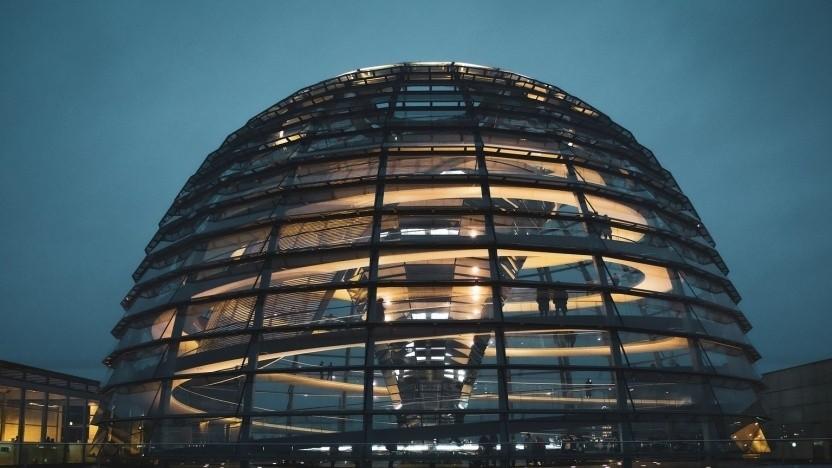 Die Kuppel des Bundestages.
