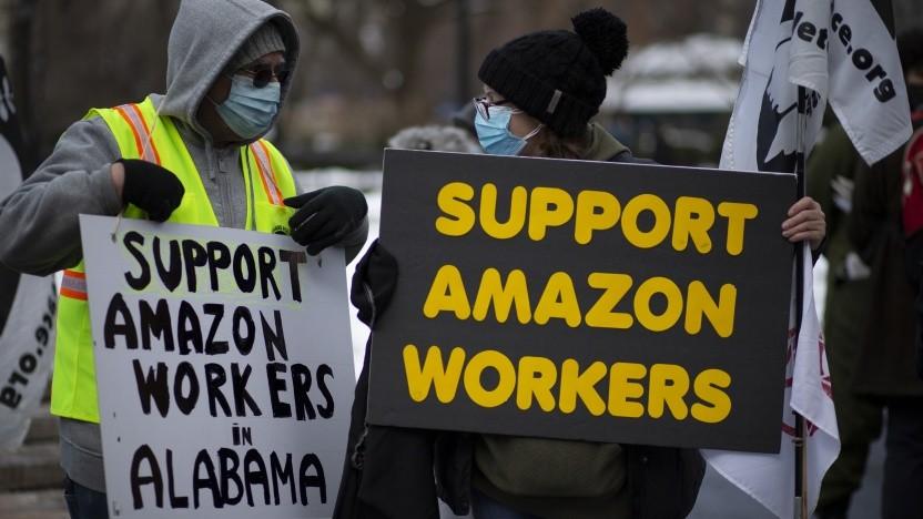 Aller Protest hat nichts geholfen: Bei Amazon in Bessemer (USA) gibt es keine Gewerkschaft.