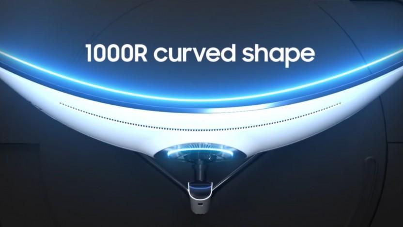 Samsungs neuer Odyssey G9 ist wieder um 1000R gekrümmt.
