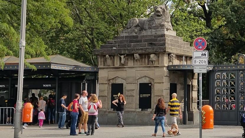 Am sogenannten Löwentor des Berliner Zoos soll ein schnellerer Einlass möglich sein.