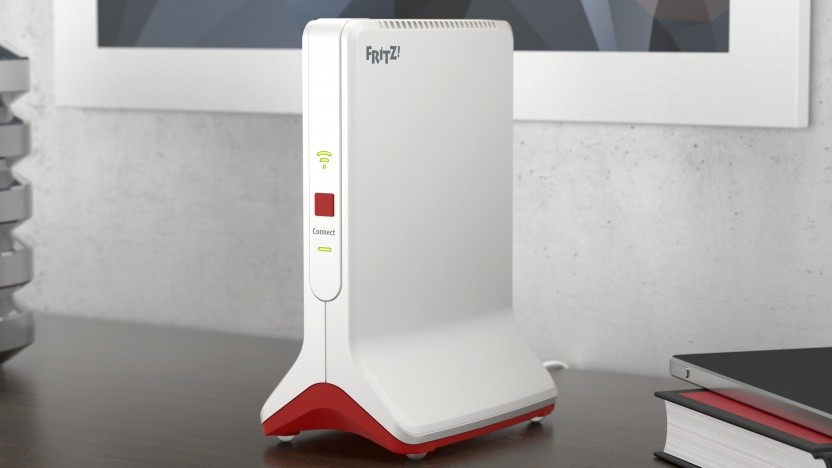 Der Fritzrepeater 6000 wird im klassischen AVM-Design verkauft.