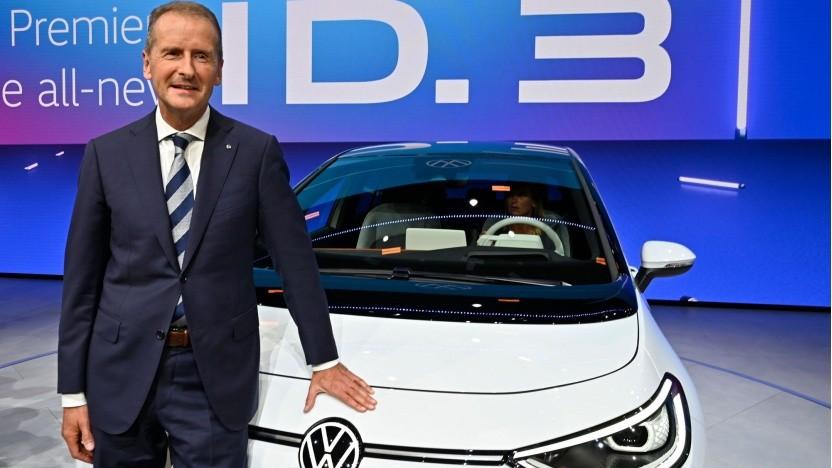 VW Chef-Herbert Diess mit Elektroauto VW ID.3: Vorbild Tesla