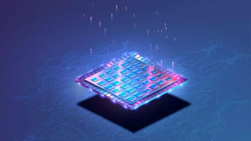 Symbolisierter Chip mit diversen IP-Blöcken