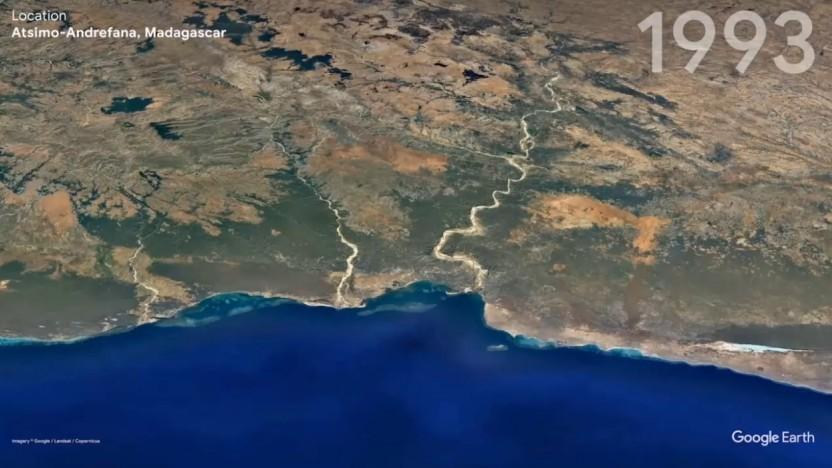 Ob Madagaskar oder München - der Zeitraffer von Google Earth zeigt die Veränderungen der vergangenen Jahrzehnte.