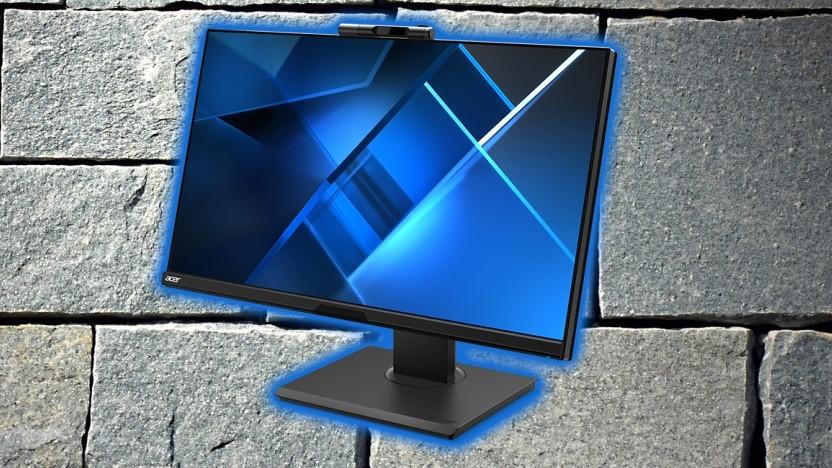 Der Acer-Monitor integriert eine Webcam mit Windows Hello.