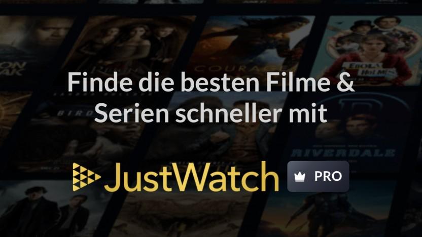Justwatch Pro ist gestartet.