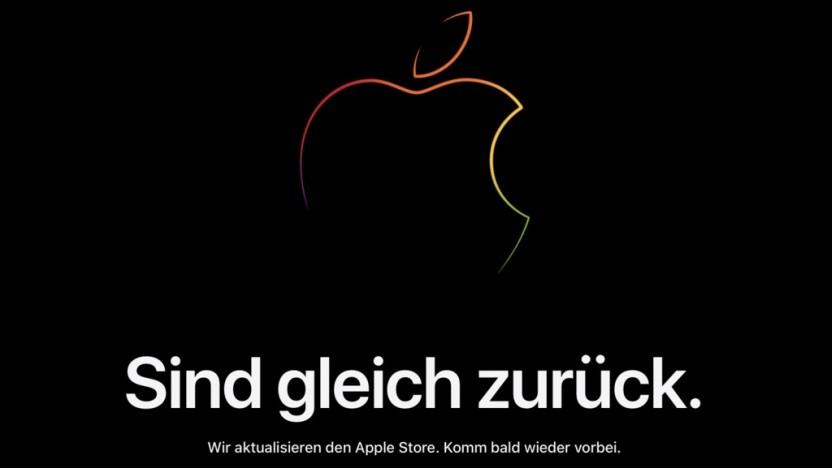 Vor jeder Keynote wird der Apple-Store abgeschaltet.