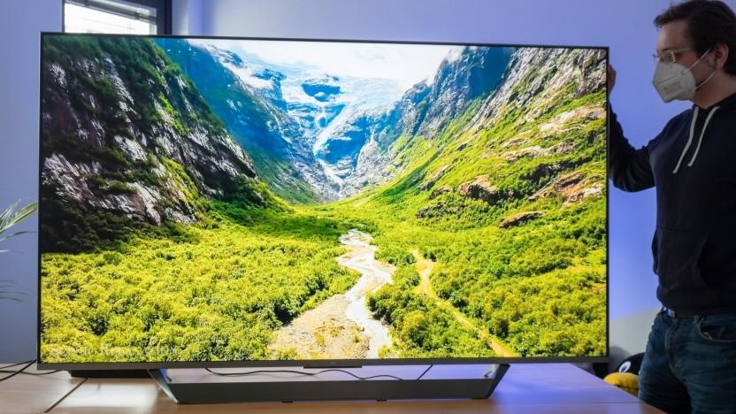 Der MI TV Q1 ist ziemlich riesig.
