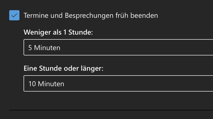 Outlook erfindet Pausen.