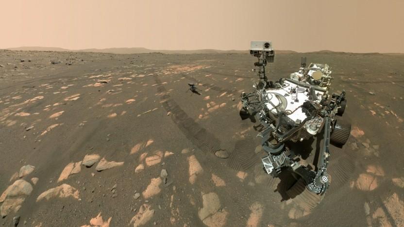 Selbstbildnis des Marsrovers Perseverance: knapp 5,4 Gramm Sauerstoff in einer Stunde