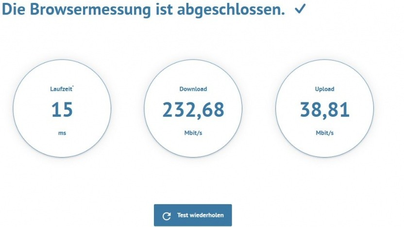 So ist derzeit die Datenrate bei Golem.de-Redakteur Achim Sawall.