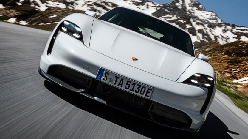 Der elektrische Taycan von Porsche