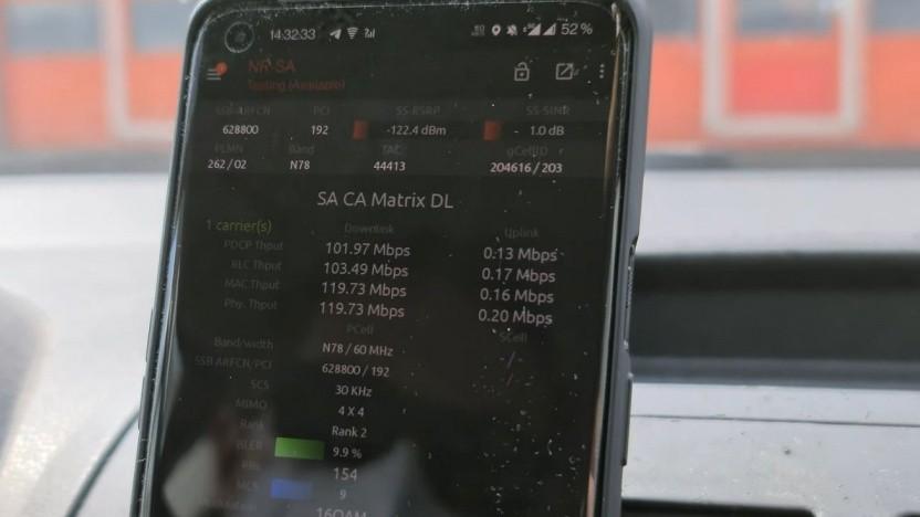 Test für 5G Stand Alone: Im Auto noch sehr schwach
