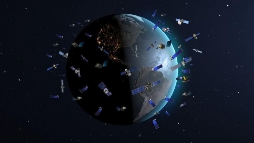Satellitenkonstellation (Symbolbild): Frequenzstörungen und Kollisionen