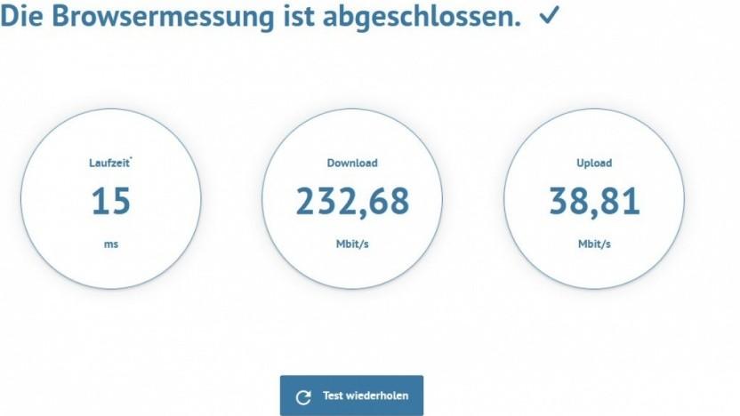 So ist derzeit die Datenrate bei einem Golem.de-Redakteur.
