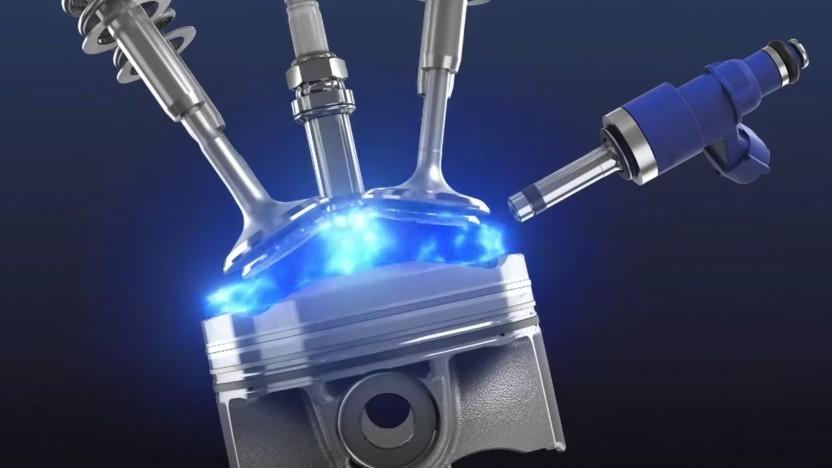 Verbrennungsmotor  für Wasserstoff