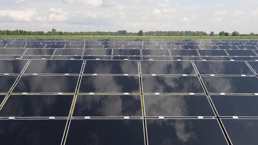 Solarpanele in der Nähe von München