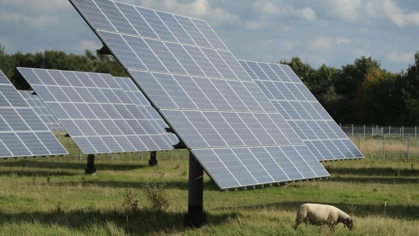 Solaranlage in Brandenburg: An sonnigen Tagen können die Solaranlagen mehr als zwei Drittel des Stromverbrauchs decken.