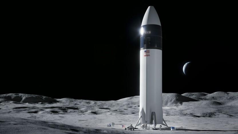 Der Stein des Anstoßes: Mondlander von SpaceX