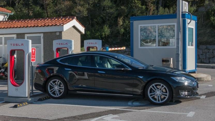 Tesla Model S: Das Basismodell war nicht erhältlich.