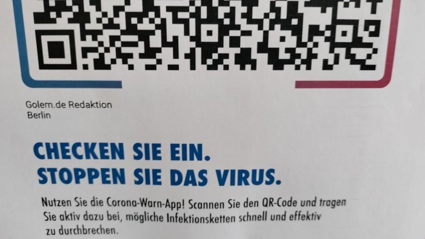 Es ist kein gute Idee, sich über beliebige QR-Codes einzuchecken.