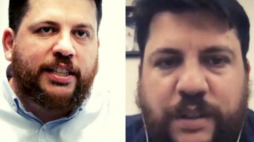 Das angebliche Deep-Fake-Foto (r.) stammt aus einem realen Video mit Leonid Wolkow.