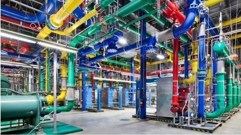 Technik in einem Rechenzentrum bei Google