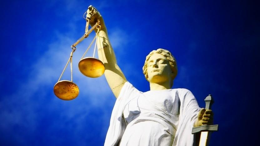 An dem gefälschten Gerichtsbeschluss war Justitia nicht beteiligt.