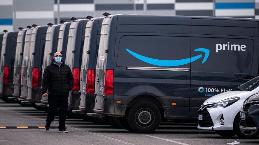 Amazon-Fahrer im März 2021