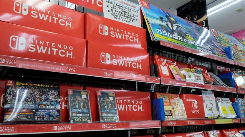 Nintendo Switch in einem Geschäft in Tokio
