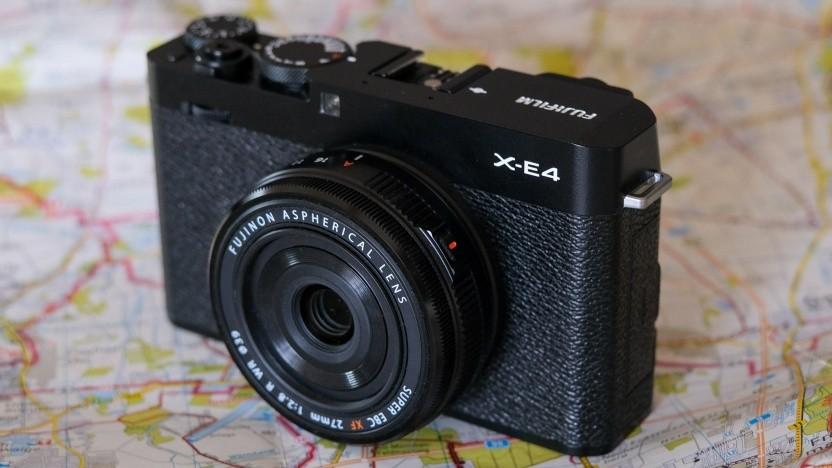 Fujifilm X-E4 mit Kit-Objektiv XF 27mm F2.8 R WR